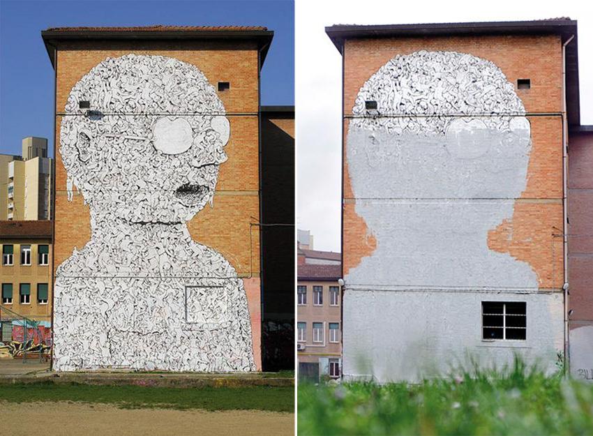 Blu Street Art Protest Bologna