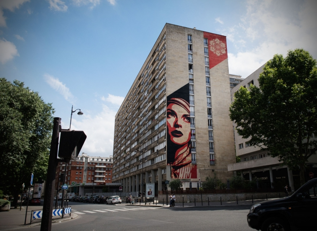 Shepard Fairey Street-Art Mural in Paris (2012)