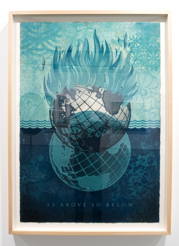 As Above So Below / Earth Crisis Exhibition / Shepard Fairey 2016