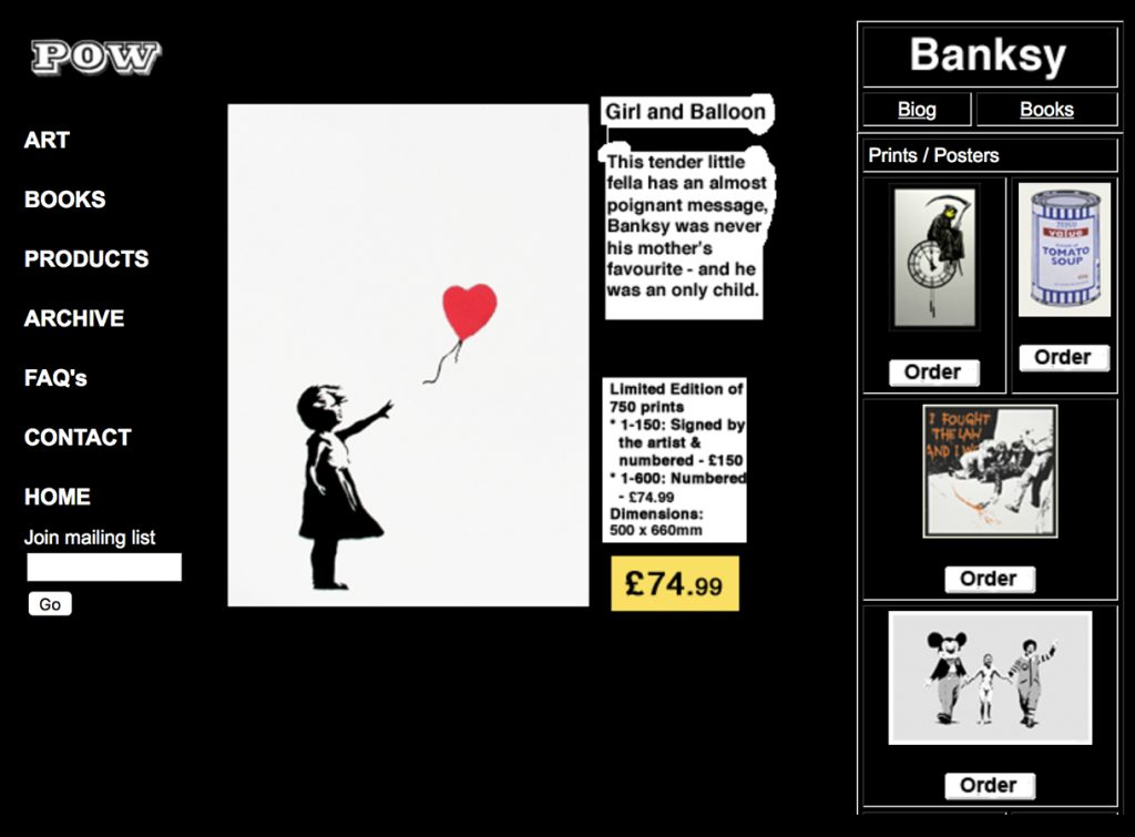 Banksy Girl with Balloon signed Print for Sale