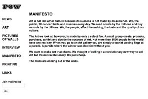 Pictures on Walls Manifesto