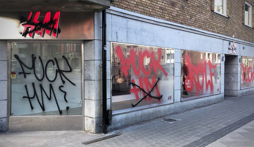 Fuck H&M Graffiti #boycotthm