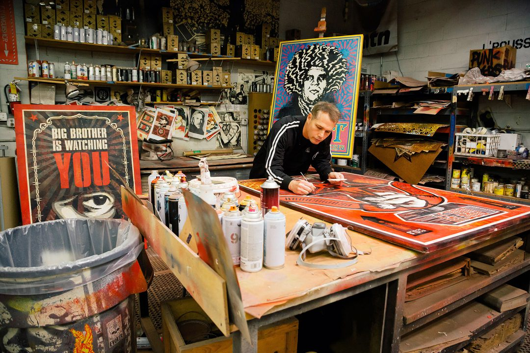Shepard Fairey Studio View 2019